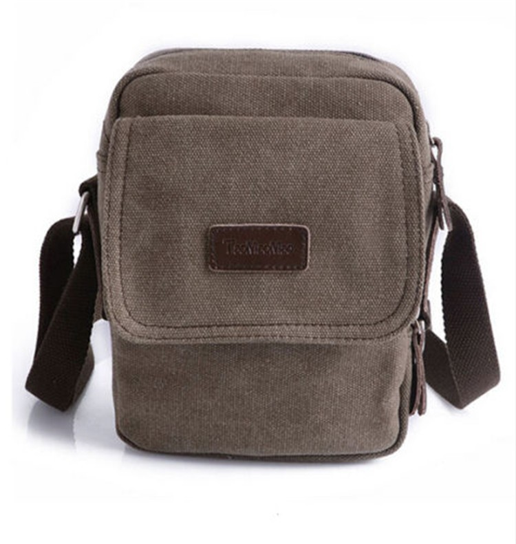 Best Man Mini Canvas Small Sling Bags Shoulder Bag With Long