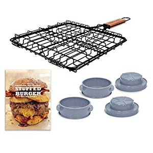Stuffed Burger Set Essential Grilling Kit (Includes Recipe Book) by Charcoal Companion