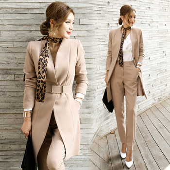 2018 hot sale elegant women office pant suits ladies office suits design