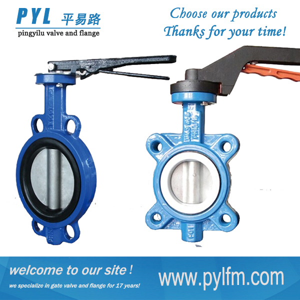 Cast Iron Wafer Type Butterfly Valve Gearbox For Water Pipeline ...