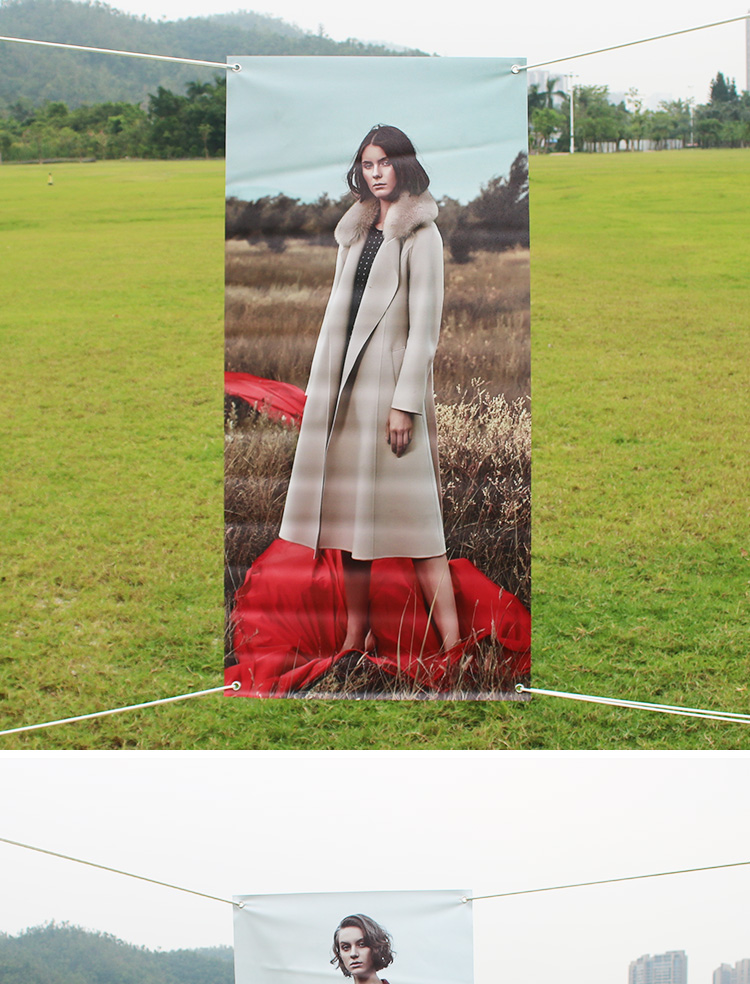 Colorful Flex Roll PVC banner Good price Printed Aluminum Stand Transverse Banner