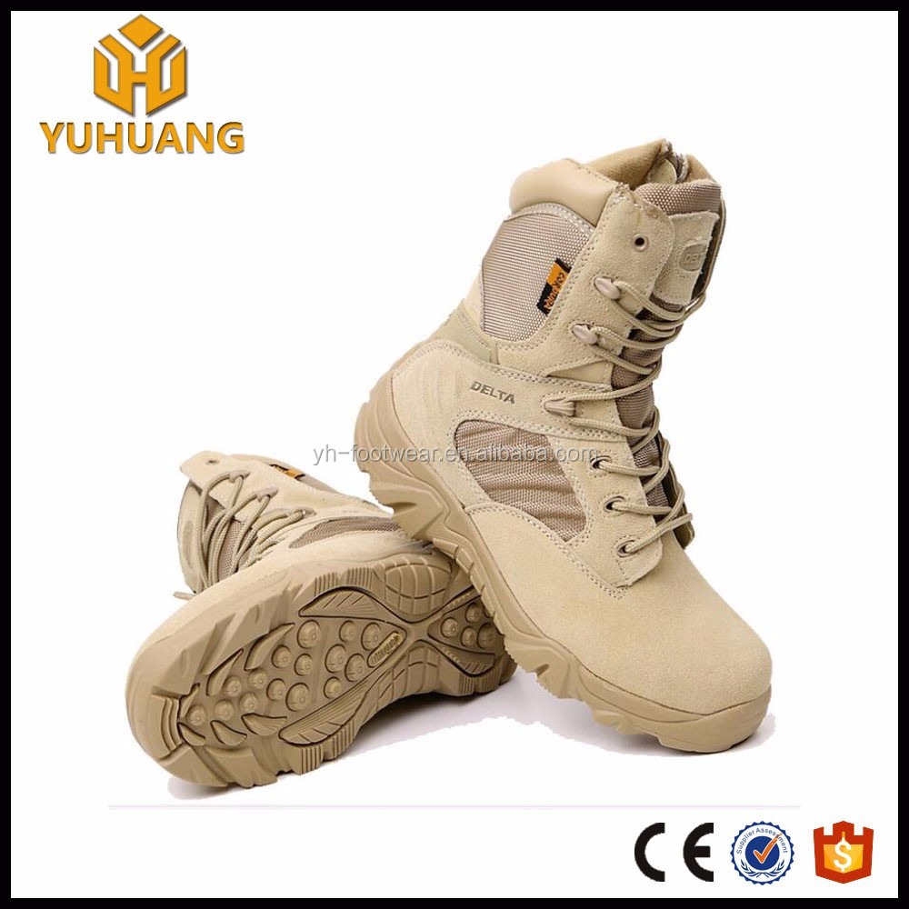 Cheap price suede leather side zipper tactical military delta boots