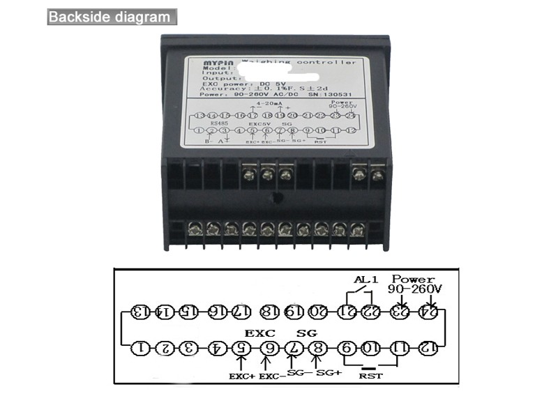 MYPIN brand Programmable weight controller with relay output(model:LH86-RND)