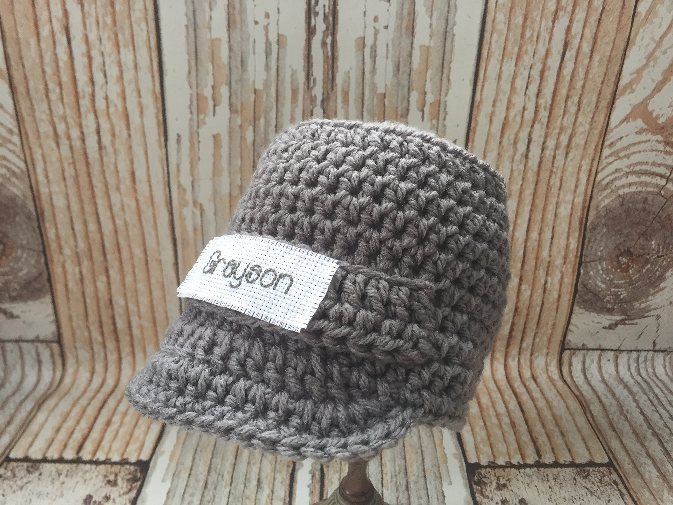 51b84f0e Get Quotations · Personalized Baby Boy Hat, Monogram Baby Clothes, Newborn  Photo Props, Winter Crochet Baby