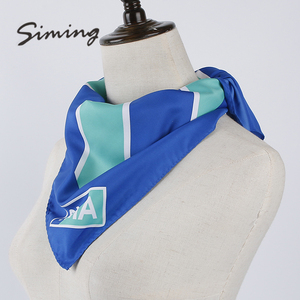 Good price of designer airline polyester personalized chiffon scarf wholesale