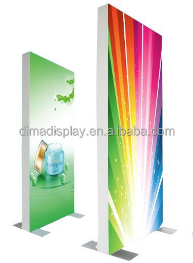 DM Free size textile graphic aluminium frame,light box led free standing