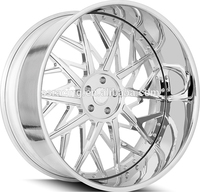 SS new design forged chrome alloy wheels with pcd 5x112 114.3 120