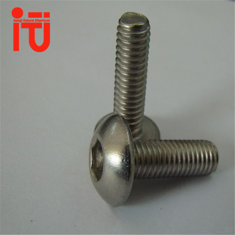 high quality anticorrosive gr2 gr5 titanium bolts dome head door drop bolt