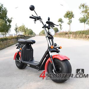 U shape hand bar and big seat with box under seat and two battery space electric scooter sharing