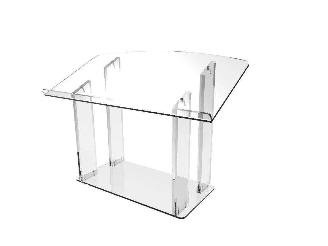 FixtureDisplays Tabletop Acrylic Plexiglass Podium Pulpit Lectern Clear Lucite 1803-6