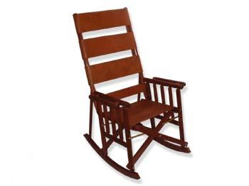 Leather And Wood Rocking Chair From Costa Rica