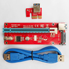 Top Selling VER 006C 007 008S PCI-E Express Riser Card USB 3.0 extender Cable PCIe 1x to 16x