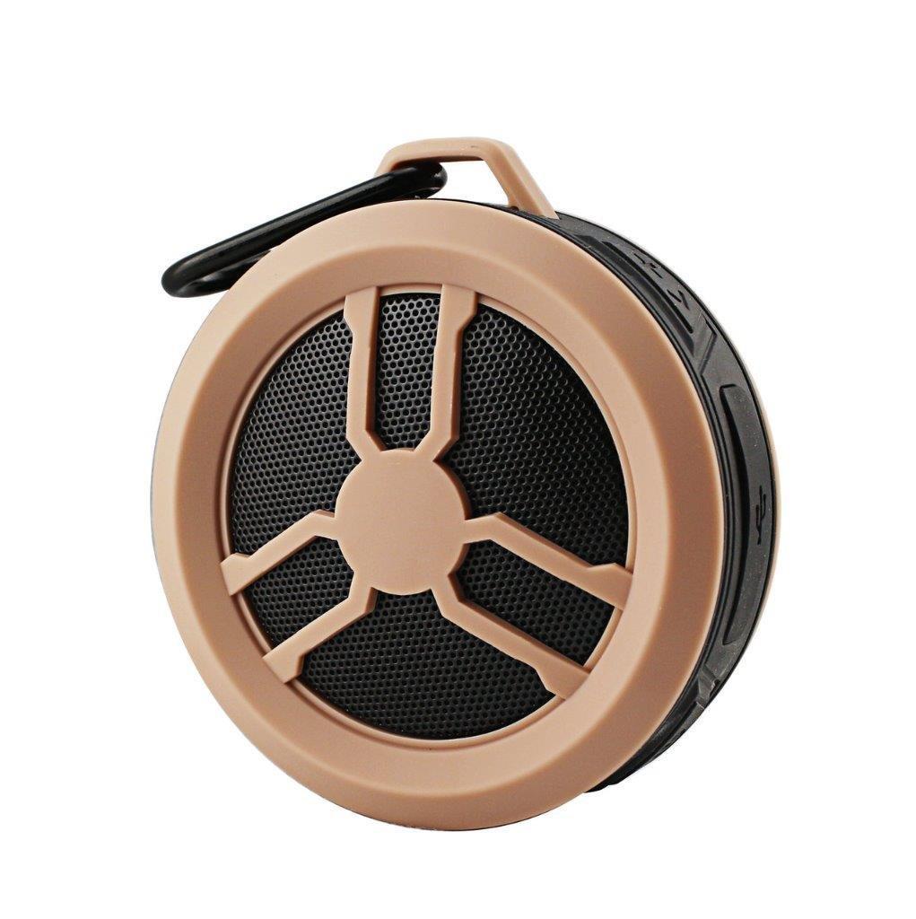 Portable Water Proof Wireless Speaker for Sanyo 6750 (Katana Eclipse), Katana LX, S1,PCD Chaser, VM2045 (Venture) (Rose Gold)