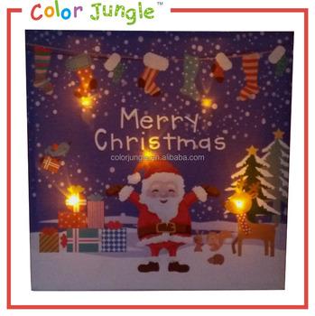 kerst schilderij op canvas met led verlichting