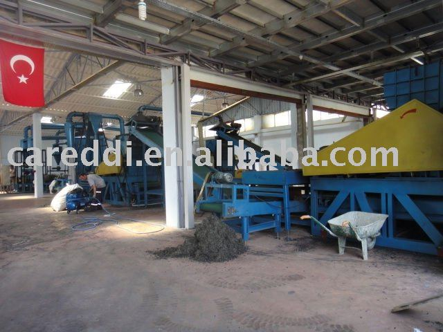 continuous waste tyre recycling production line