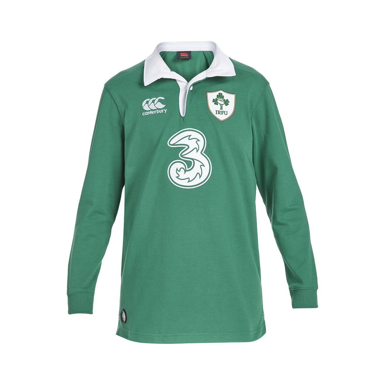 3154612f4 Get Quotations · Canterbury 2015-2016 Ireland Home Classic LS Rugby Shirt ( Kids)