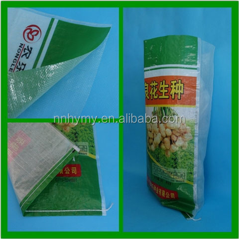 plastic packaging seed woven bag 50kg for corn,seed,grain