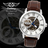 Famous Brand Winner Luxury Fashion Casual Stainless Steel Men Mechanical Watch Skeleton Watch For Men Dress brand watch men