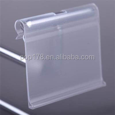 Supermarket metal T hook plastic price label holder