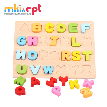 Baby wooden Educational Puzzle Letter For Infant
