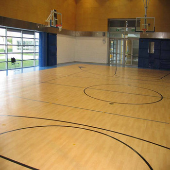 Indoor and outdoor pvc flooring roll foam backing vinyl for Indoor basketball court flooring cost