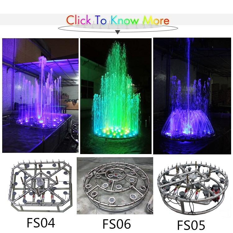 Wasserfall aus hochwertigem Edelstahl für die Hochzeit