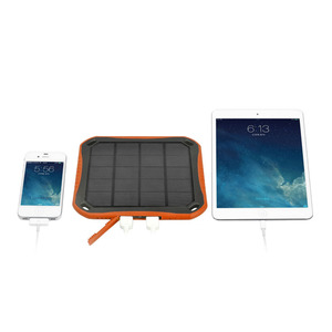 For iPhone X USB Solar Charger with LED Light 5600mAh Power Bank