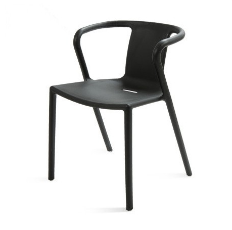 Hebei Modern Design Armrest PP Plastic Dining Molding Chairs With Backrest