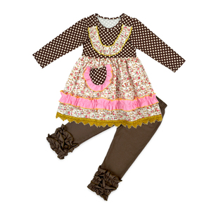 Baby Clothing Set Wholesale Children's Boutique Clothing Baby Girls Fall Cotton clothes sets