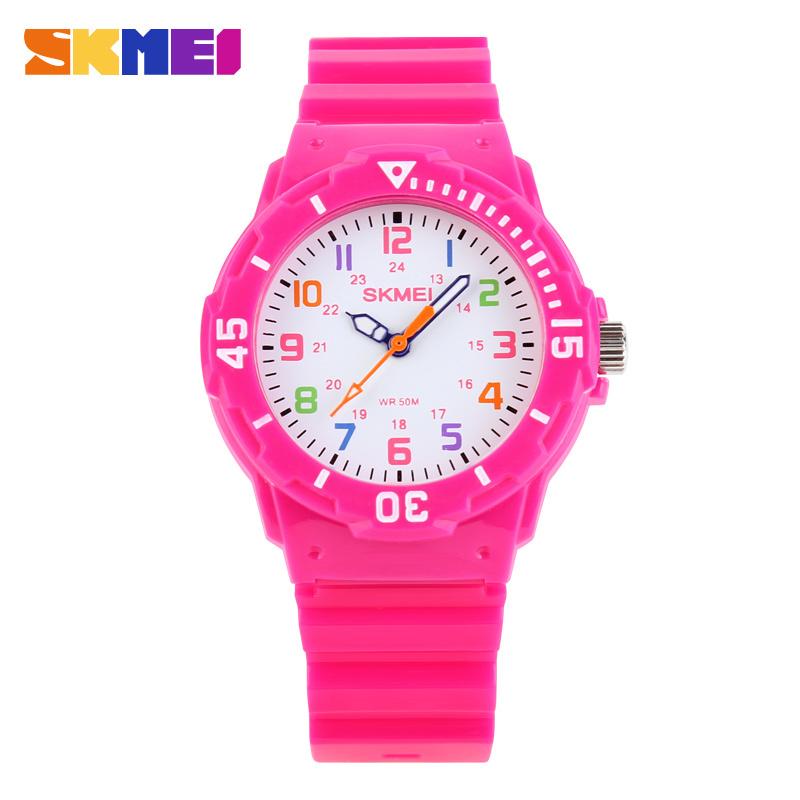Skmei 1043 Children Quartz Watch Fashion Students Quartz-watch Boys Girls Colorful Water Resistance Wristwatches Kids Wristwatch