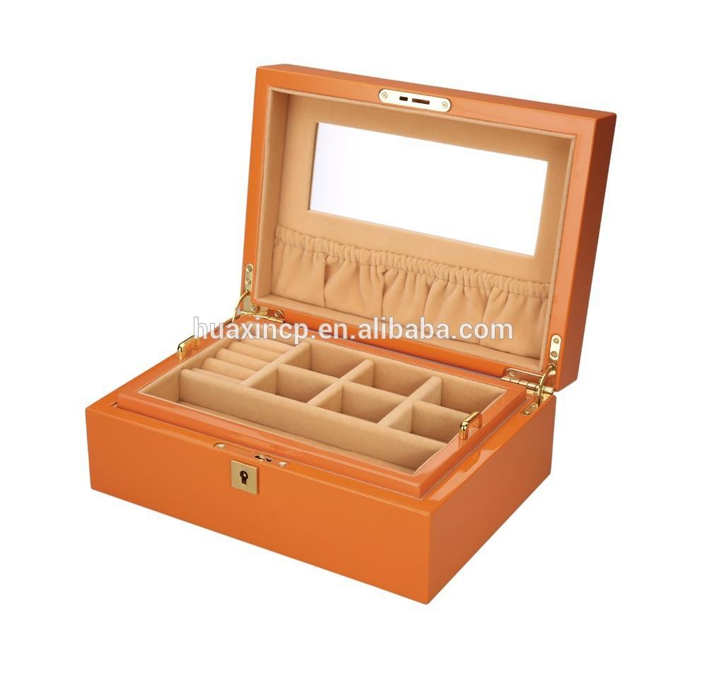 vintage wooden jewelry box wooden craft box - Wood Jewelry Box