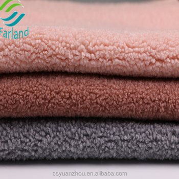 61ea9dc9500fb Sherpa fleece fabric synthetic wool fabric for life jacket lining fabric