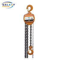 Rated Load Lifting Capacity 1.5 Ton Manual Chain Block Small Size Chain Hoist
