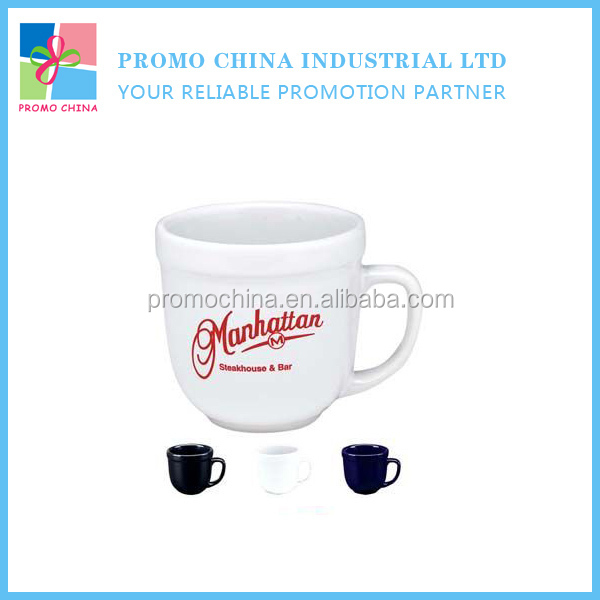 2015 New Novelty Black Glazed Barrel Shaped Ceramic Mug Cup With LOGO Printed