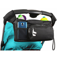 Universal Baby Stroller Organizer bag with Removable front zipper pocket