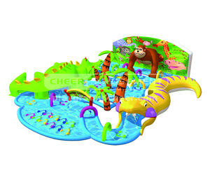 Cheer Amusement giant inflatable water park equipment for water games animal themes