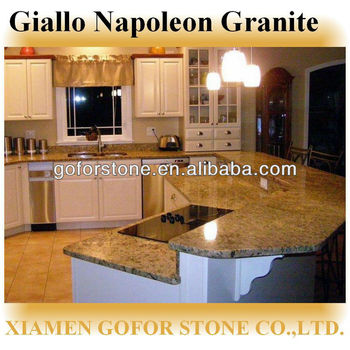 Prefabricated Giallo Napoleon Granite Countertops Lowes