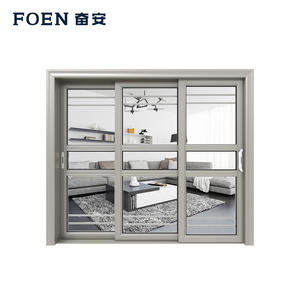 Affordable Wholesale Custom Half Glass Aluminum Door