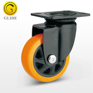 3 4 5 inch Medium Heavy Duty PU Swivel Caster