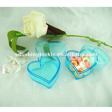 Top sale PE plastic pink and blue candy case with love heart made in china wholesale