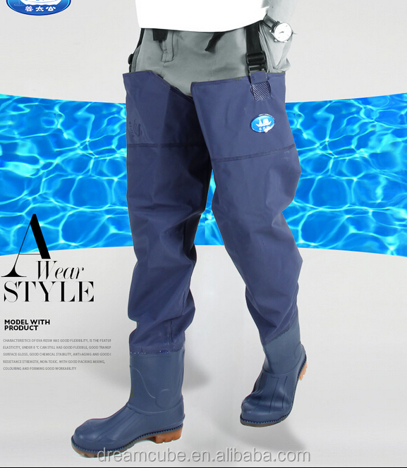 Durable Blue PVC/Tarpaulin Hip waders