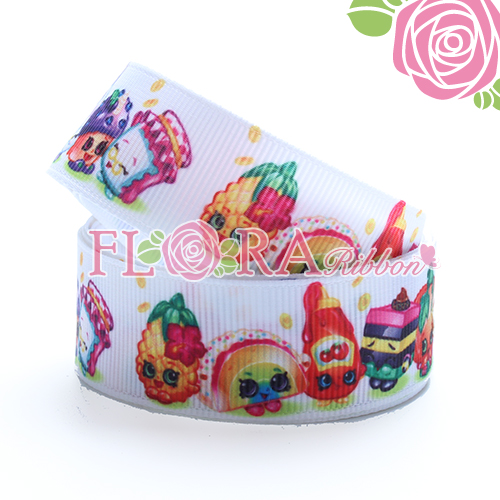 Newest Girls Style Thermal Transfer Print Grosgrain Ribbon for Packing