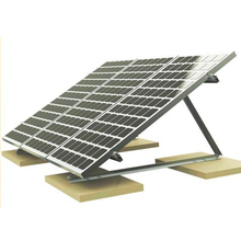 Roof Mount Solar Tracking System,Fixed Triangle Bracket for Flat Concrete Roof,Solar Panel Flat Roof Mounting Brackets