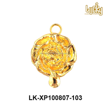 Wholesale in china flower 24k gold plated brass copper alloy jewelry accessories parts small box clasp for necklace