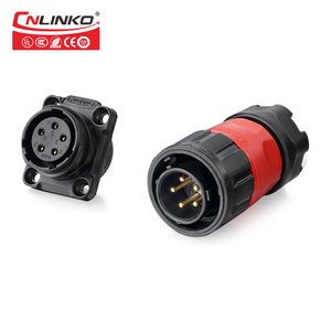 Cnlinko Jack 5 Pin Mini XLR Panel Mount Waterproof Wire Connector