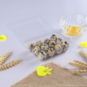 12cell pack clear disposable plastic quail egg tray