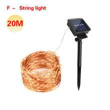 5 м 10 м 20 м солнечная батарея садовая лампа Светодиодная лампа гирлянда на открытом воздухе Сказочный свет Рождественский свет для дома лужа...(Китай)