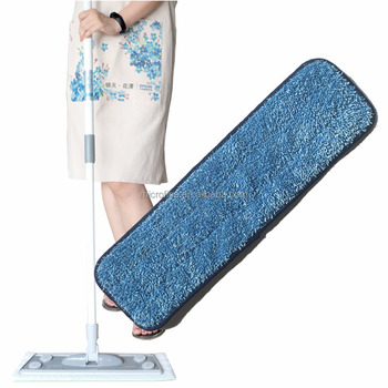 2017 haining microfiber mop, blue polyester mops