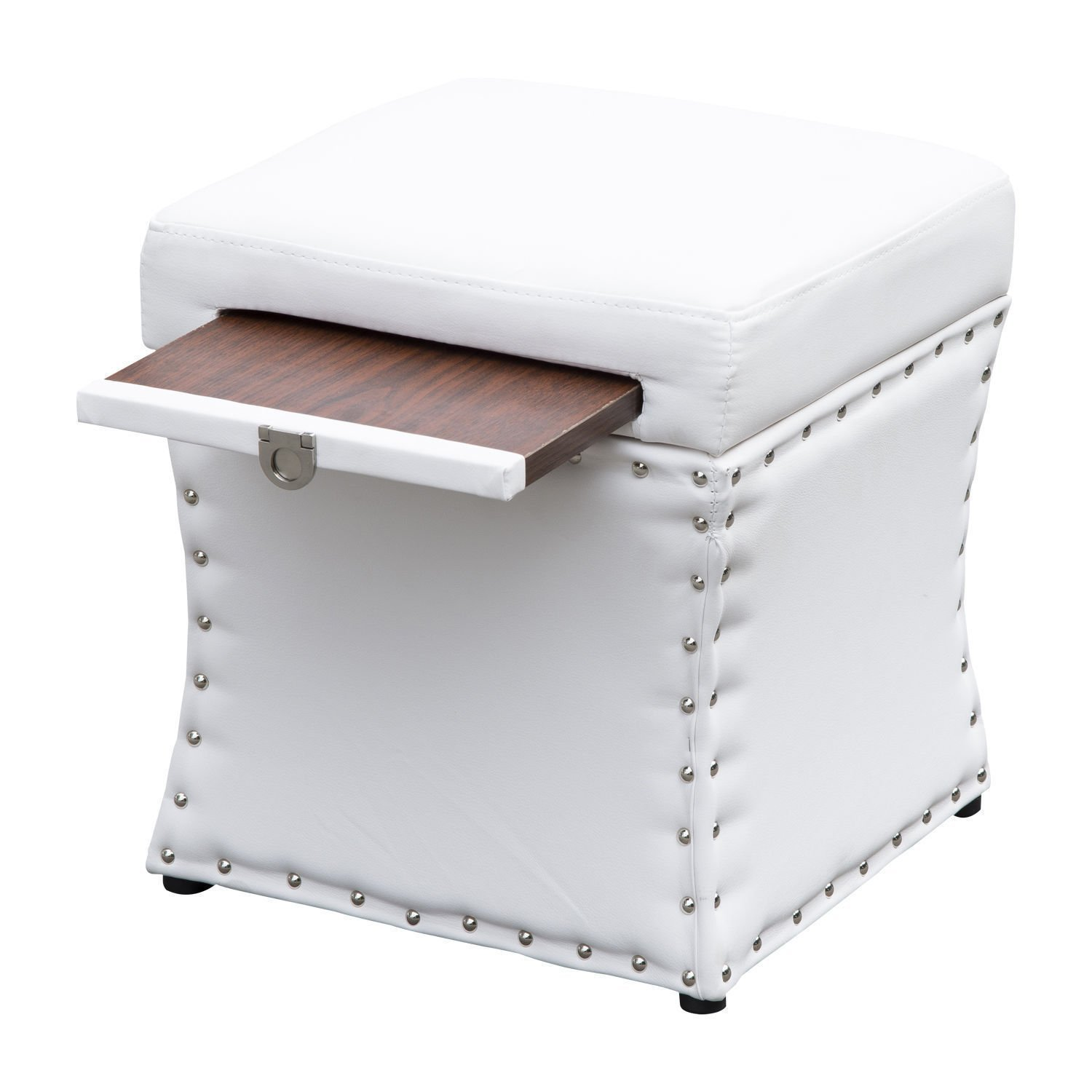 High End Classy Tufted Accents Rectangular Storage Bench Ottoman Footstool