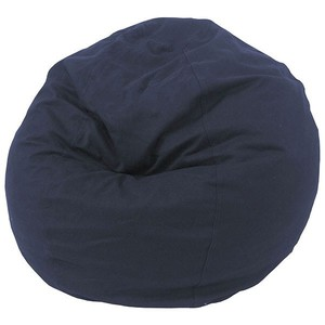 Good quality navy polyester fabric bean bag lounge